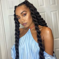 """Leigh-Anne Pinnock on Instagram: """"Who enjoyed The Search last night? We have an impossible job... literally 😩🤦🏽♀️ every single band is AMAZING! So sad to see…"""" Natural Curls, Natural Hair Styles, Long Hair Styles, Locs, Sisterlocks, Little Mix Brasil, Country Wedding Hairstyles, Curly Hair Model, Jumbo Twists"""