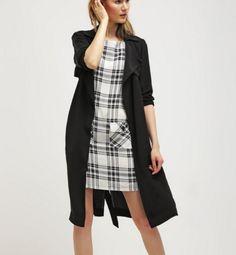 Dorothy Perkins Sukienka mini prosta w kratę black