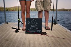 Fishing themed announcement. Photo credit TEA Photography.