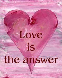JESUS IS LOVE..HE IS THE ANSWER. AMEN!