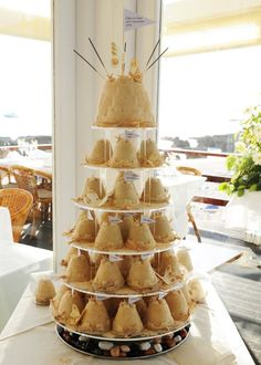 Sandcastle cup cakes