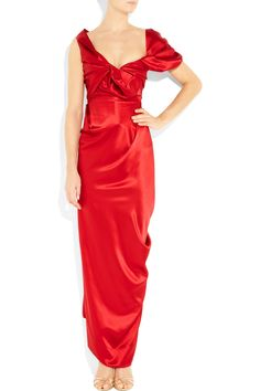 93803f123b6 Vivienne Westwood Gold Label Opuntia Silk-satin Gown in Red