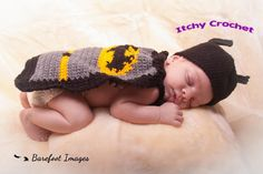 Top 10 geeky baby crochet patterns, Batman cape: read more on the LoveCrochet blog!