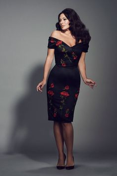 Floral 50s roses dress - The Pretty Dress Company - a hint of Dolce & Gabbana