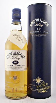 A rare old style bottling of Bruichladdich Distillery 10 year old Single Malt Scotch Whisky from the 1990s.