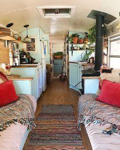 Image may contain: 1 person, living room and indoor - Vanlife & Caravan Renovation