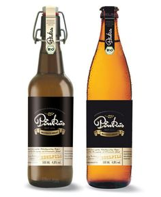 label / Pinkus beer