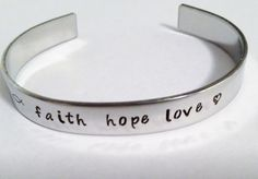Personalized stainless steel cuff bracelet by BlueMountainStamping, $12.00