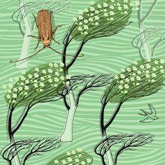 Huhu and Manuka Wallpaper