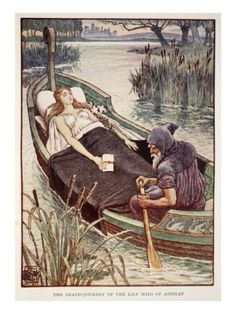 The Death Journey of the Lily Maid of Astolat, from 'Stories of the Knights of the Round Table' by    by Walter Crane Item #: 6239834