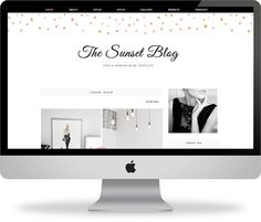 Premade Blogger Template  Instant Download  The by KayBrighton