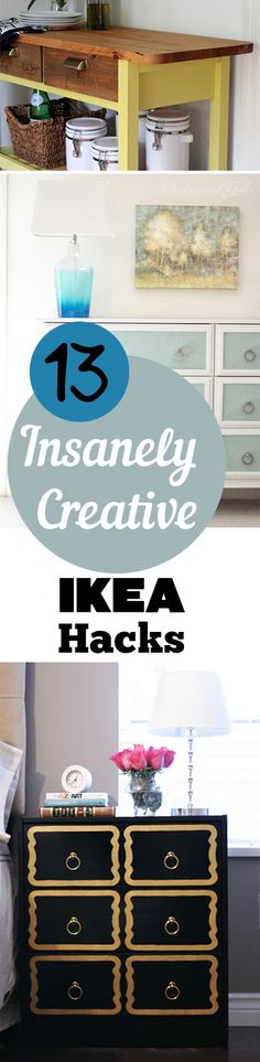 13 IKEA Furniture Hacks that are amazing! Project ideas, designs and tutorials