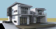 House Pretorius Nutec Houses, 3 Storey House Design, Mansions, House Styles, Home Decor, Beach, Decoration Home, Manor Houses, Room Decor