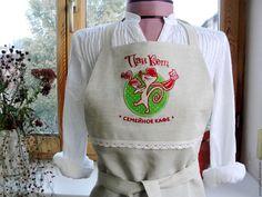 Купить Фартук с индивидуальными надписями и логотипом - фартук, фартук для кухни, фартук с вышивкой, фартук для кафе