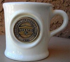 Texaco Star Interstate Hiway Prestige Award 1977 Mug Automobilia Transportation