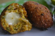 Cheese-stuffed pumpkin croquettes | 10 Veggie Snacks That Go Great With An Ice Cold Beer