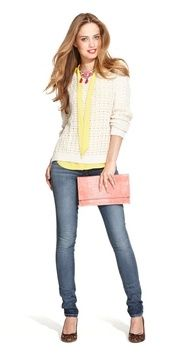 No one will even recognize this lounge sweater when you glam it up with a bright blouse and a statement necklace.