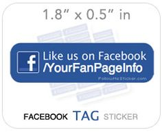 Small Tags, each tag can have your Fan Page Username on them- these are small stickers for Brand Awareness! http://followmesticker.com
