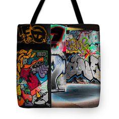 "Skatepark Graffiti SouthBank 2 Tote Bag 18"" x 18"""