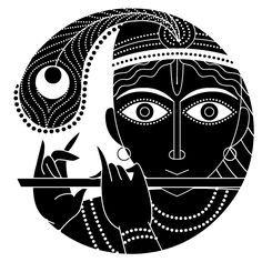 The Ten Avatars of Vishnu - Krishna the Cowherd Prince Madhubani Art, Madhubani Painting, Kalamkari Painting, Krishna Art, Lord Krishna, Shiva, Dot Painting, Fabric Painting, Indian Folk Art