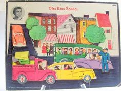Vintage Puzzle Ding Dong School Miss by VintageVarietyValues
