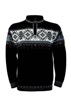 6679c18a5ce NEW! Dale of Norway Blyfjell Wool Sweater Black Off White-FREE  55 VALUE  SCARF