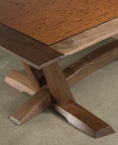 wise dining table detail - black walnut, bubinga, and wenge - Eben Blaney Furniture