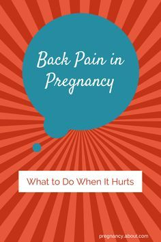 When your back hurts, it is almost all you can think about! Here are some solutions to common causes of back pain in #pregnancy.