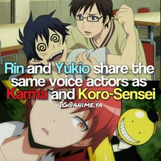 Karma and Yoichi Saotome have the same voice actors too and that's kinda funny because their personalities are complete opposites #videogamememes