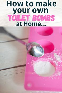 DIY toilet bombs will get your cleaning done in no time. They smell amazing and are fun to make! Isn't it such a hassle to try and find new fun ways to clean around the house? Especially in the bathroom… You may have made a diy all purpose cleaner or one of these 19 homemade cleaners but you really want a safe toilet cleaner. So perhaps it's time to try a fun fizzy cleaning alternative to hazardous toxic toilet cleaners! Green Cleaning Recipes, Natural Cleaning Recipes, Homemade Cleaning Products, Natural Cleaning Products, Fizzy Toilet Bombs, Diy All Purpose Cleaner, Bombe Recipe, Toilet Cleaning, Cleaners Homemade