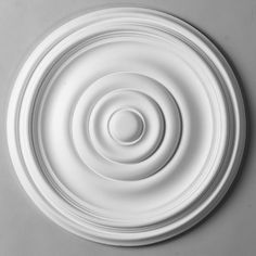15 Plain Rings Ceiling Medallion - option for ceiling medallion, painted to match the trim color Brass Chandelier, Pendant Lighting, Chandelier Ideas, Chandeliers, Orac Decor, Cord Cover, All Of The Lights, Ceiling Medallions, Trim Color