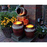 Springbrunnen Krüge mit LED-Beleuchtung Gartenbrunnen Kaskade