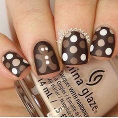 #repost @kellimarissa Sweet and spice and everything nice! #gingerbreadman #nailart #naildesign #nailswag #nailpolish #design #nailartjunkie #fashionista #nailsdone #mani #nails #nailsdid #ilovenails #beautifulnails #fancyfingers #instanails