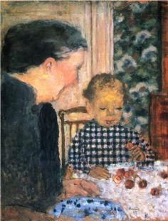 Child Eating Cherries - Pierre Bonnard. #artists #bonnard