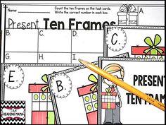 https://www.teacherspayteachers.com/Product/Task-Cards-Ten-and-Twenty-Frames-2199568  TEN and TWENTY FRAME TASK CARDS