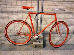 Red Fixed Gear #fixie #fixed #bicycle