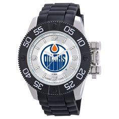 Men's NHL Game Time Edmonton Oilers Pearl Series Watch - Black