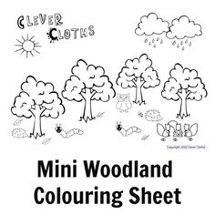 FREE Colouring Pages. Free woodland themed colouring sheets for kids #colouring