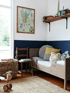 (cute kids room) Tim Ross and Michelle Glew-Ross — The Design Files Boy Room Color Scheme, Boys Room Colors, Bedroom Color Schemes, Bedroom Colors, Bedroom Ideas, Wall Colors, Room Boys, Budget Bedroom, Child's Room