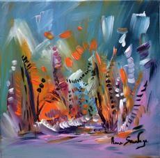 Le merveilleux jardin des fleurs, une peinture florale 30 x 30 cm à l'acrylique sur toile http://www.amesauvage.com/artiste-peintre-contemporain-2/tous-les-tableaux/le-merveilelleux-jardin-aux-fleurs.html