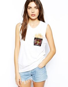 CAPTURE By Hollywood Made Blooming Fries Tank Top