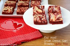 Gluten Free Red Velvet Cream Cheese Swirl Brownies