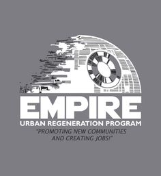 """Empire Urban Regeneration Program"" grey t-shirt.  Awesome graphic tees and hoodies."