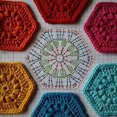 Free charted hexagon pattern by irene_rijk