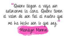 Frases de Marilyn Monroe, para compartir.