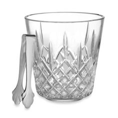 Waterford® Lismore Ice Bucket with Tongs - BedBathandBeyond.com