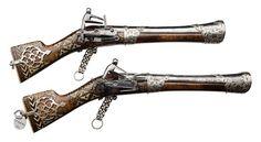 Pair of Caucasian or Persian Miquelet Blunderbuss Pistols | Auctions Online | Proxibid