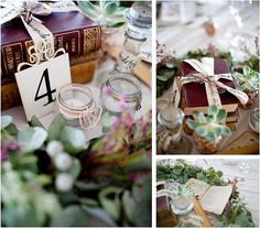 themed vintage tables | Heather Steyn