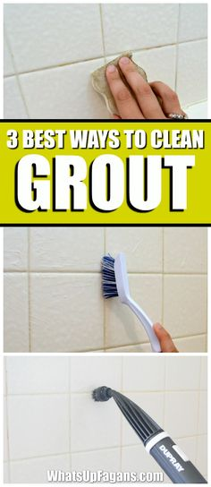 best way how to clean grout in your bathroom shower tiles. Cleaning tip. fugen reinigen 3 of the Best Ways to Clean Grout in Your Bathroom Deep Cleaning Tips, House Cleaning Tips, Spring Cleaning, Cleaning Hacks, Green Cleaning, Putz Hacks, Clean Baking Pans, Cleaning Painted Walls, Glass Cooktop
