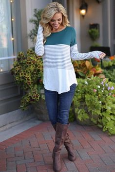 All Day Everyday Long Sleeve Top - Emerald